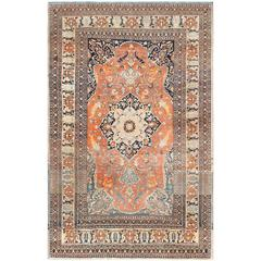 Antique Haji Jalili Persian Tabriz Rug