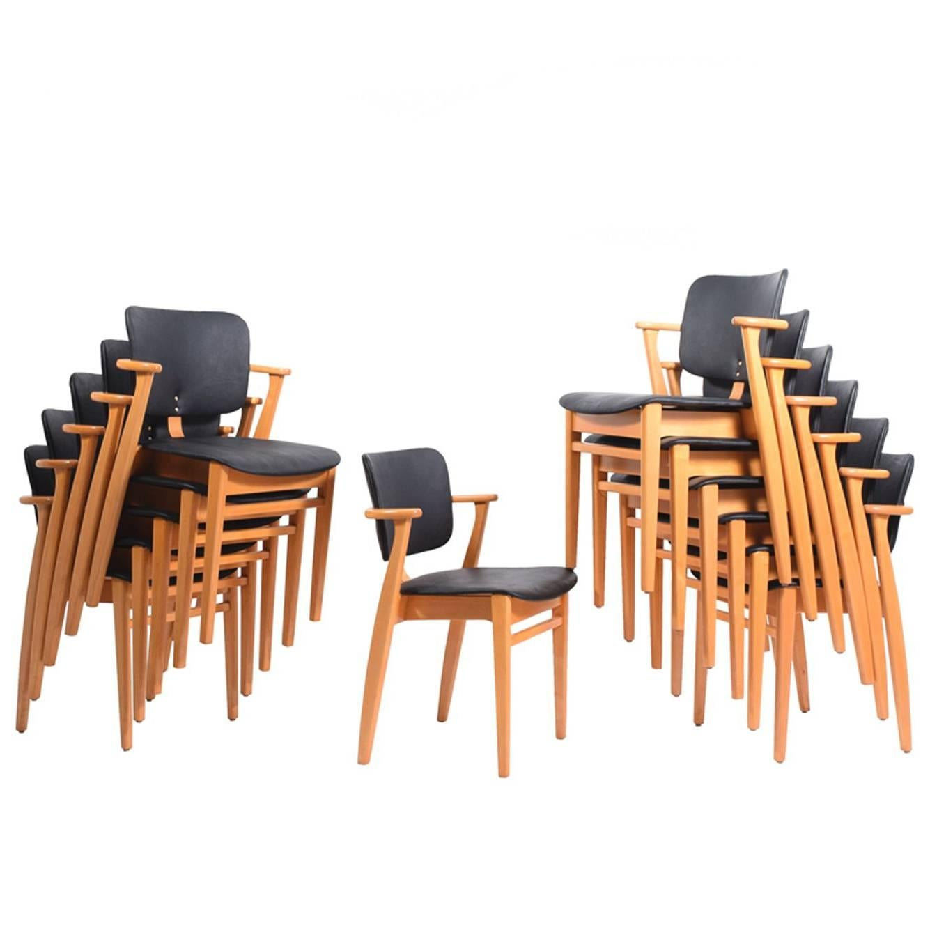 "12 Ilmari Tapiovaara ""Domus"" Armchairs for Knoll Associates"