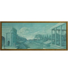 Oil on Board of Old Roman Architecture