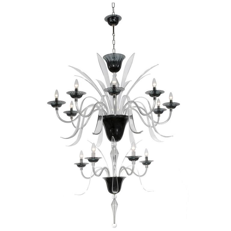 Stunning Jiang Chandelier With Two Elegant Tiers For