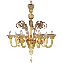 Stylish Yellow 'Todaro' Chandelier