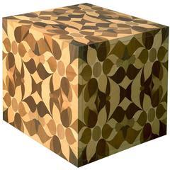 Falò Wood Inlay Bedside Table
