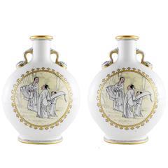19th Century Mintons Aesthetic Movement Japanism Vases