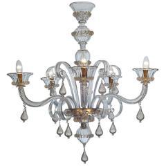 Outstanding 'Cà Grimani' Chandelier with Elegant Pendant Decorations