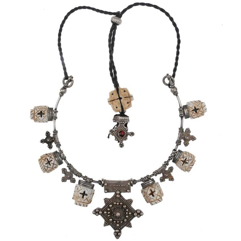 Custom Made Shell Necklace by Famous Moroccan Jeweller Chez Faouzi of Marrakech