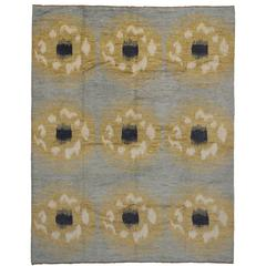 Contemporary Modern Moroccan Style Rug with Abstract Circles