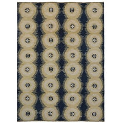 New Contemporary Moroccan Style Rug with Symmetrical Circles and Modern Style