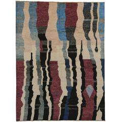 Modern Moroccan Style Rug with Contemporary Abstract Design