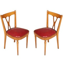 Italian Mid-Century Modern Side Chairs designer Melchiorre Bega attributed