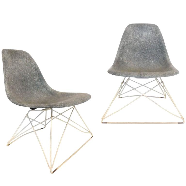 Pair of Low Cat's Cradle Side Chairs by Charles and Ray Eames for Herman Miller 1