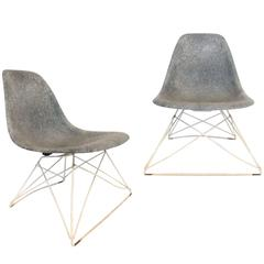 Pair of Low Cat's Cradle Side Chairs by Charles and Ray Eames for Herman Miller
