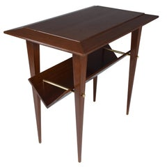 French Mid-Century Side Table In the Manner of Raphael, 1950's