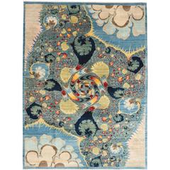 "Orley Shabahang Signature ""Genesis"" Carpet in Handspun Wool and Vegetable Dyes"