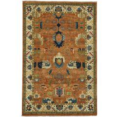 Contemporary Oushak Style Rug with Modern Style and Vibrant Colors