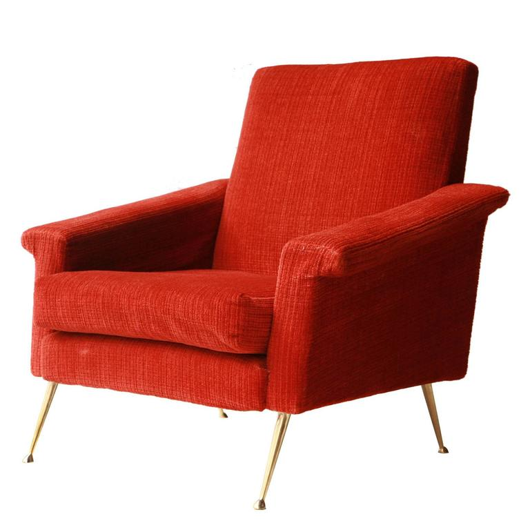 Italian Armchair with Original Upholstery