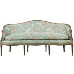 Exceptional George III Period Painted Antique Canapé Sofa, circa 1780
