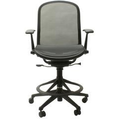 Black Don Chadwick Adjustable High Office Swivel Task Work Chair for Knoll, USA