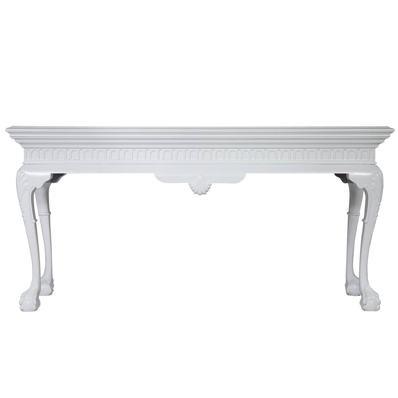 White chippendale style console at 1stdibs geotapseo Gallery