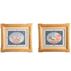 Pair of French Gouaches Depicting Classical Scenes