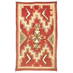 Vintage Pictorial Navajo Rug with Snake Pattern, circa 1925