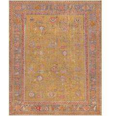 Late 19th Century Oushak Rug from West Anatolia