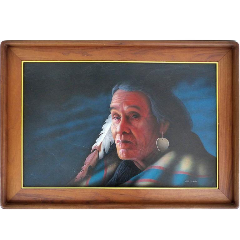 Late 20th Century Southwestern Portrait by Jeff St. John 1