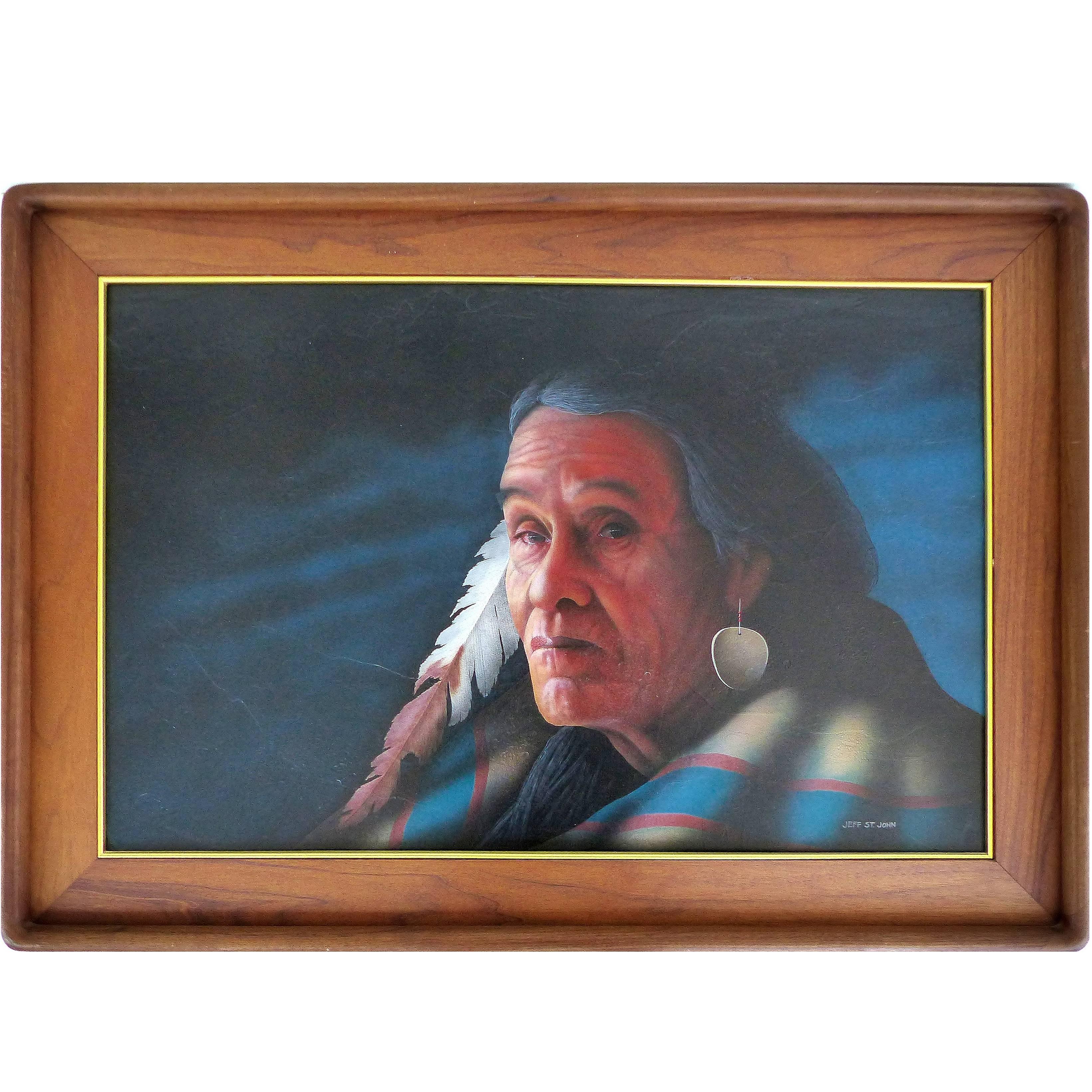 1990s Southwestern Portrait by Jeff St. John