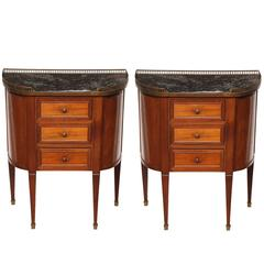 Pair of Sheraton Style Bed Side Tables