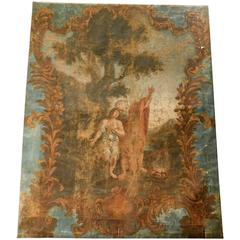 Antique Oil on Canvas with Biblical Scene