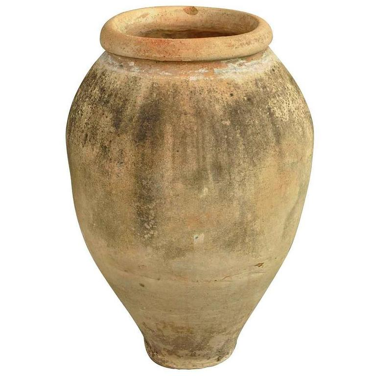 Spanish 19th Century Terracotta Olive Jar