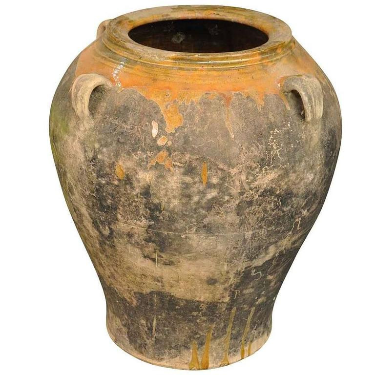 Spanish 19th Century Terracotta Jar