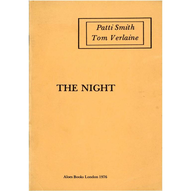 "Patti Smith early poetry book ""The Night"" 1976 For Sale"