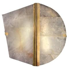 Two Be Wall Lamp White Onyx Antiqued Brass Finish, Reversable