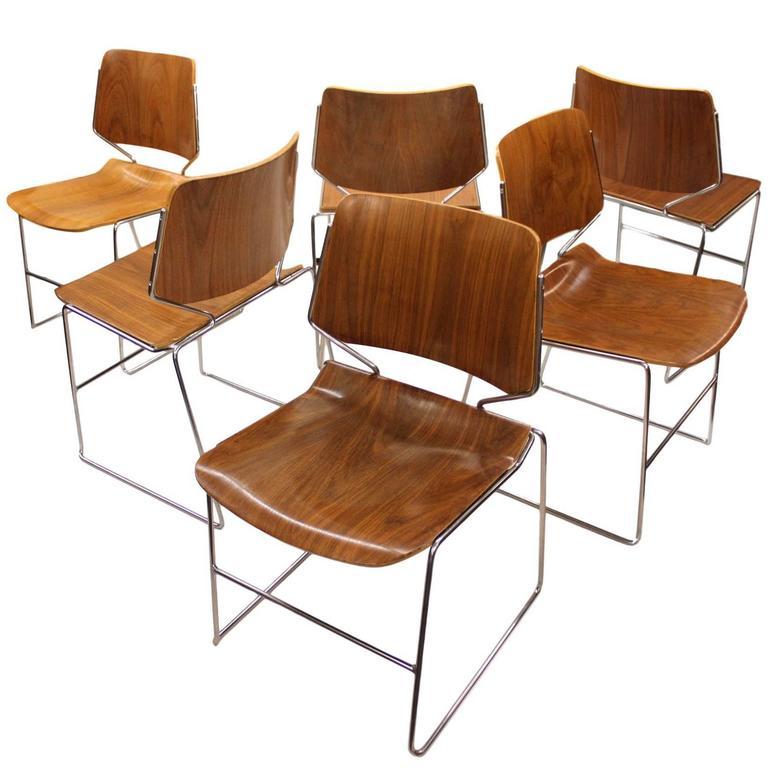 Set Of Vintage 1970s Mid Century Modern Walnut Krueger