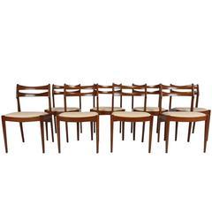 Set of Eight Mid-Century Danish Dining Chairs by Vamo Sonderburg