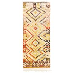 One of a Kind Midcentury Tulu Long Rug