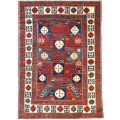 19th Century Pinwheel Kazak Inspired Rug