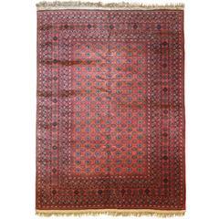 Vintage Afghan Rug, circa 1970s