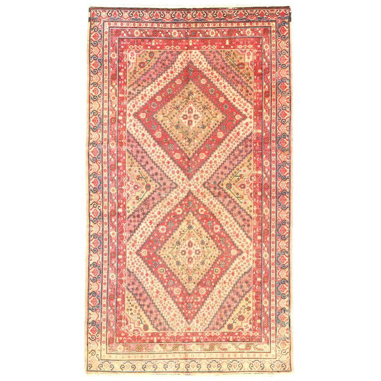 Antique Samarkan Rug, circa 1900s
