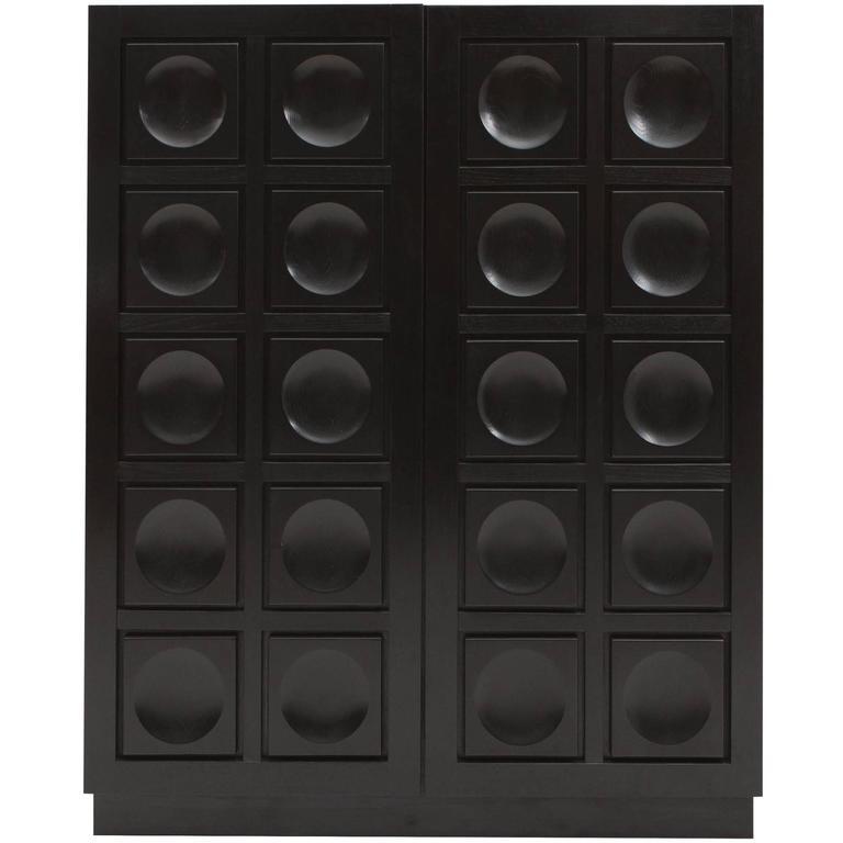 Brutalist Bar Cabinet For Sale
