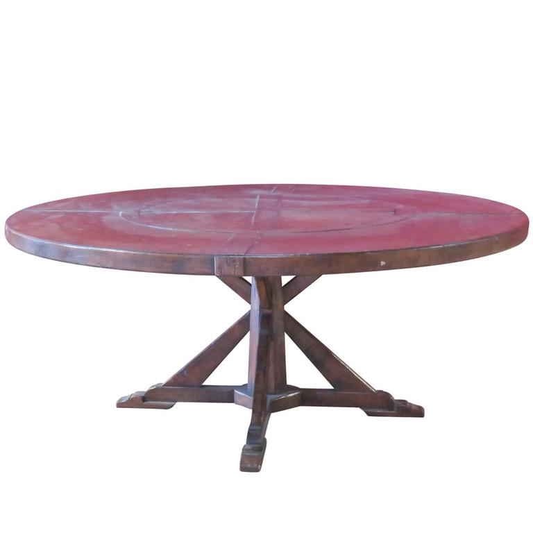 French Country Round Kitchen Table: Jonathan Charles Country French Style Walnut Round Dining