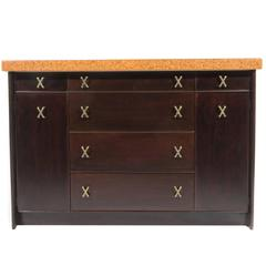 Cork-Top Sideboard by Paul Frankl for Johnson Furniture, circa 1950s