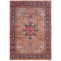 Fine Large Vintage Tabriz Persian Rug