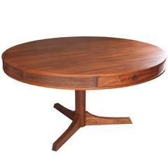 English Mid-Century Rosewood Modernist Drum Table by Robert Heritage