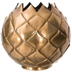 Large Brass Pineapple Vase