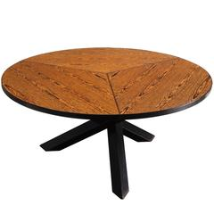 Martin Visser Round Dining Table in Wengé for 't Spectrum