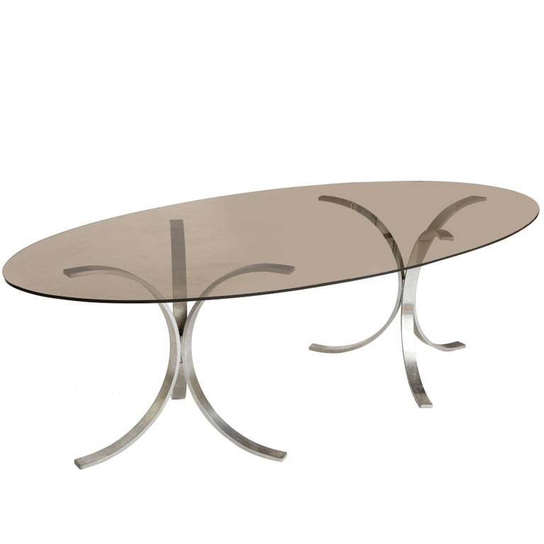 Mid-Century Chrome Dining Table 1970