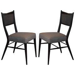 Pair of Slender Ebonized Chairs by Paul McCobb for Calvin Group