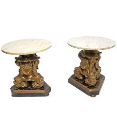 19th Century Italian Giltwood Side Tables