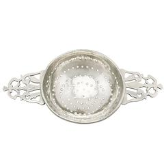 Antique George I Britannia Standard Silver Lemon Strainer